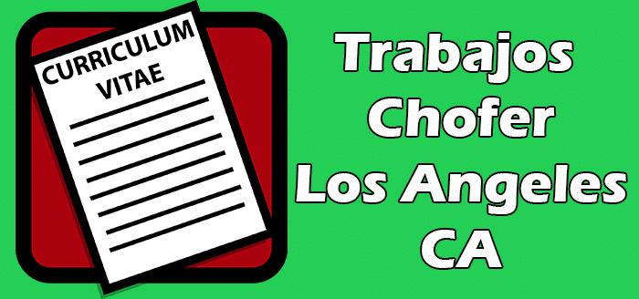 Trabajos Disponibles de Choferes en Los Angeles California 2020
