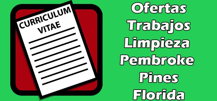 Trabajos de Limpieza de Oficinas en Pembroke Pines FL