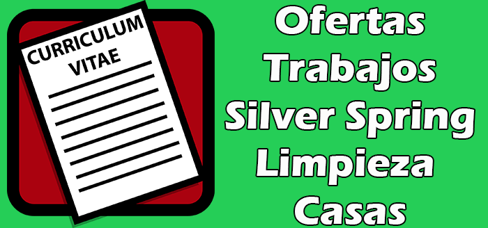 Trabajos Disponibles en Silver Spring Limpieza de casas vacias independiente.