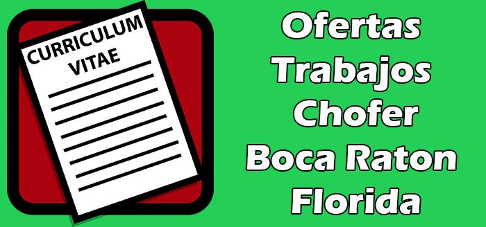 Trabajos Disponibles de Choferes en Boca Raton FL