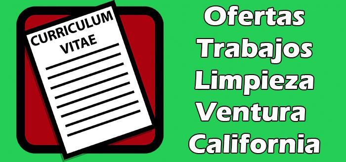 Trabajos de Limpieza en Ventura California