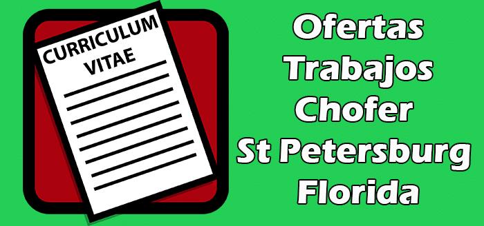 Trabajos de Chofer en St Petersburg Florida