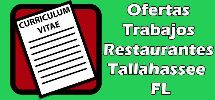Trabajos Disponibles en Restaurantes en Tallahassee en FL